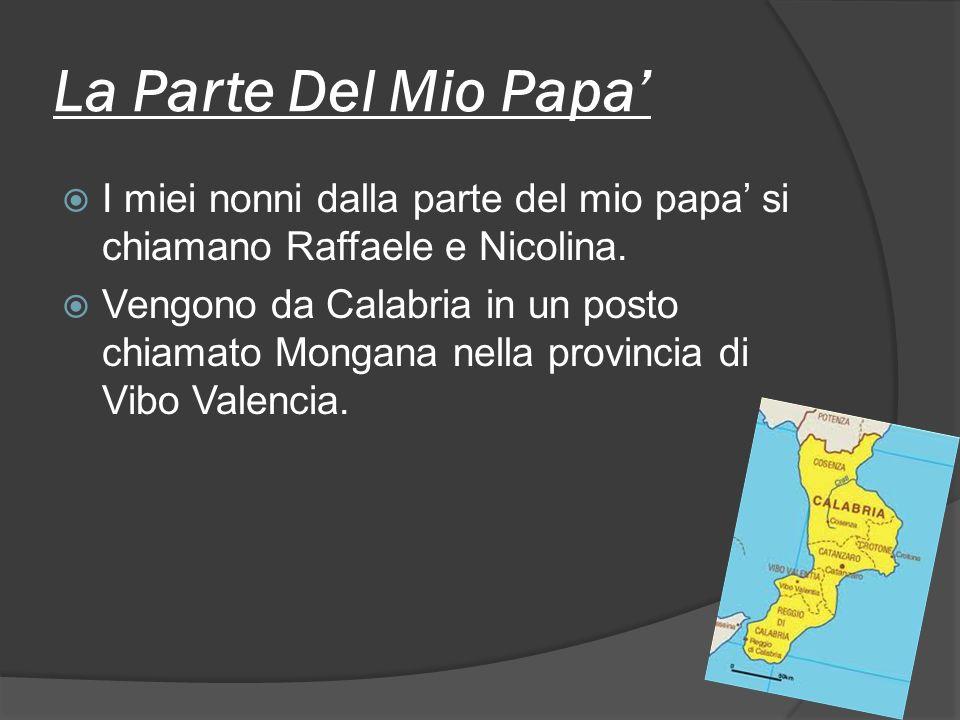 La Parte Del Mio Papa' I miei nonni dalla parte del mio papa' si chiamano Raffaele e Nicolina.