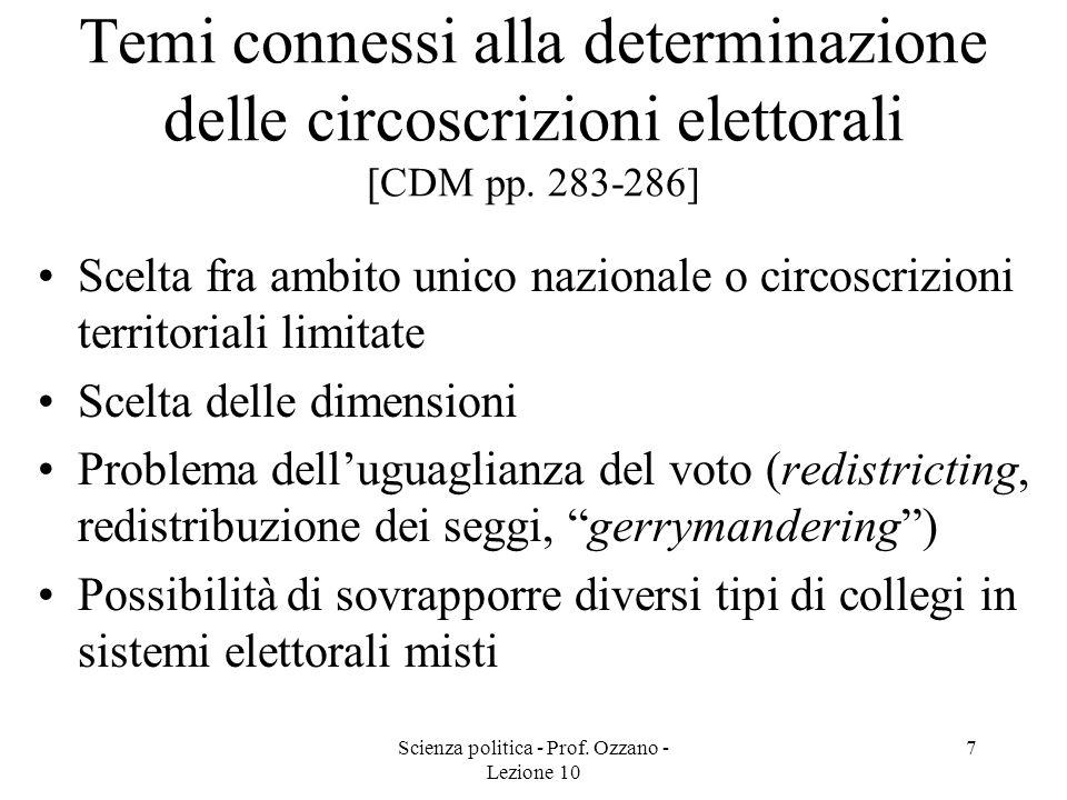 Scienza politica - Prof. Ozzano - Lezione 10