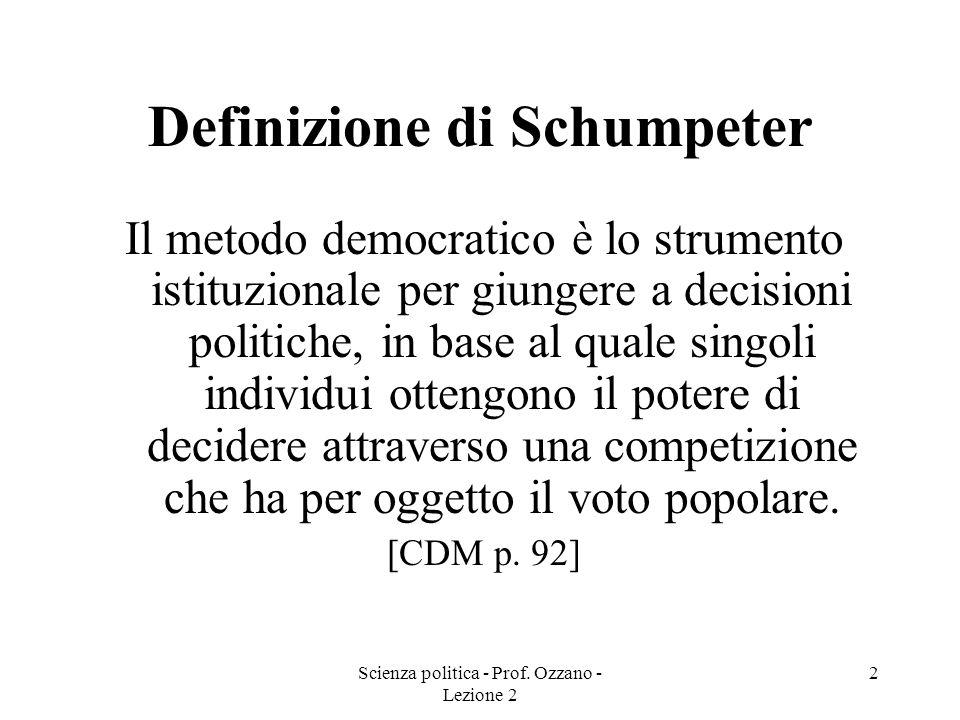 Definizione di Schumpeter
