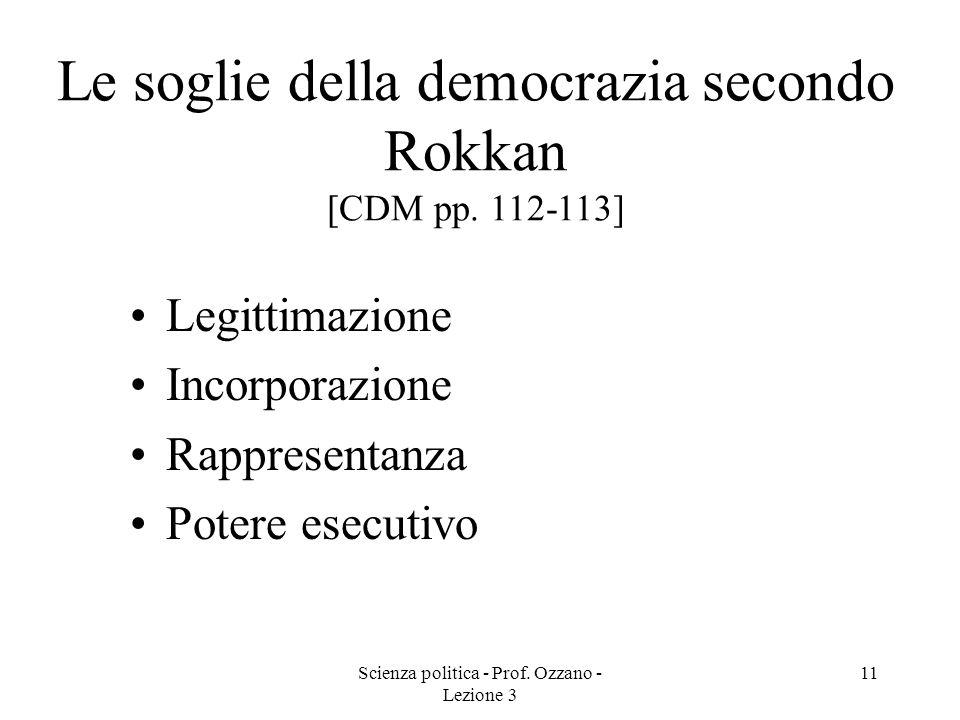 Le soglie della democrazia secondo Rokkan