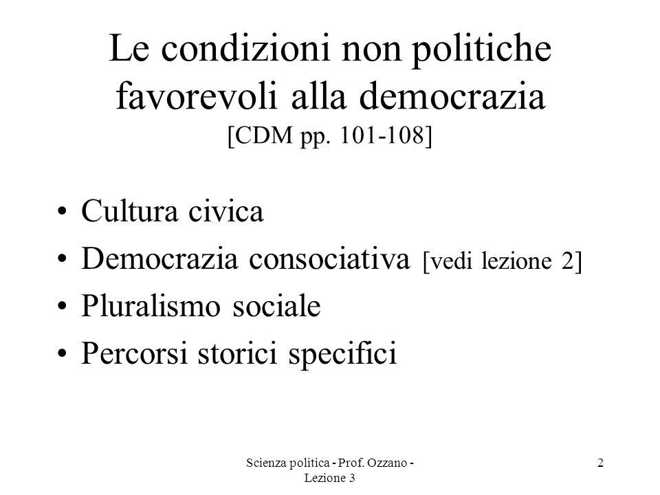 Scienza politica - Prof. Ozzano - Lezione 3