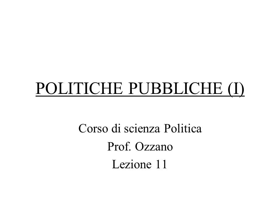 POLITICHE PUBBLICHE (I)
