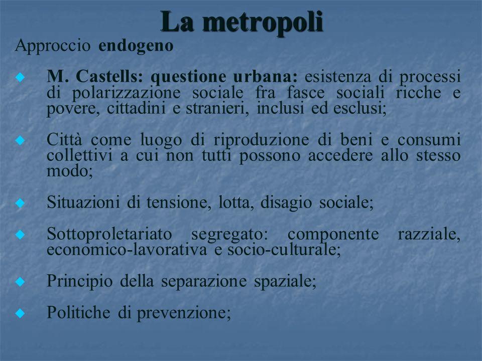 La metropoli Approccio endogeno