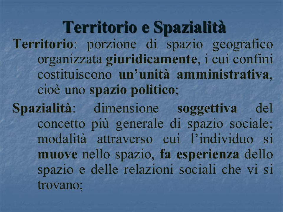 Territorio e Spazialità