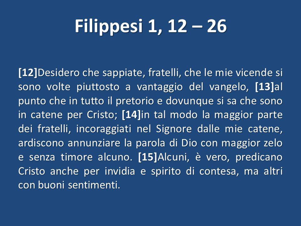 Filippesi 1, 12 – 26