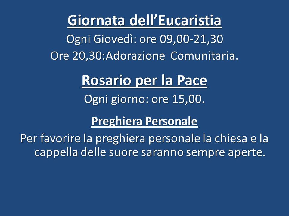 Giornata dell'Eucaristia