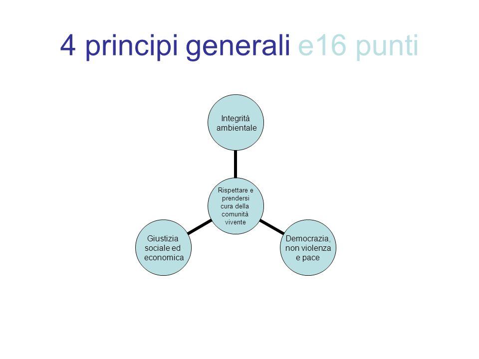 4 principi generali e16 punti