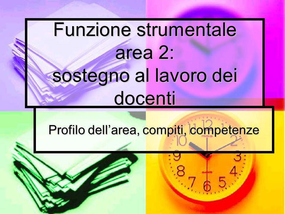 Funzione strumentale area 2: sostegno al lavoro dei docenti