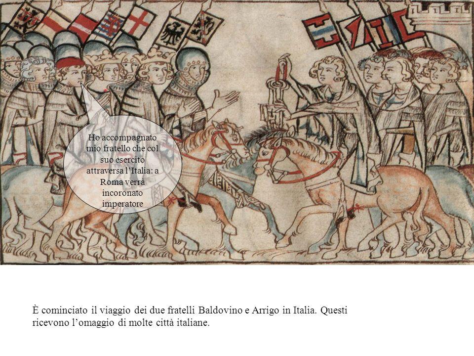Ho accompagnato mio fratello che col suo esercito attraversa l'Italia: a Roma verrà incoronato imperatore