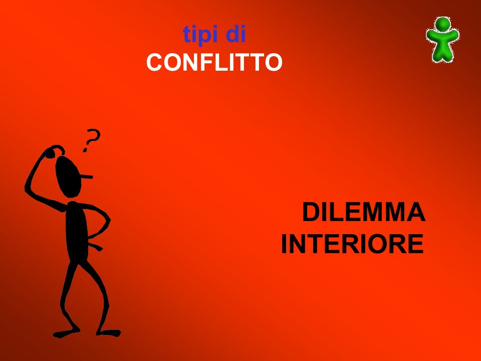 tipi di CONFLITTO DILEMMA INTERIORE
