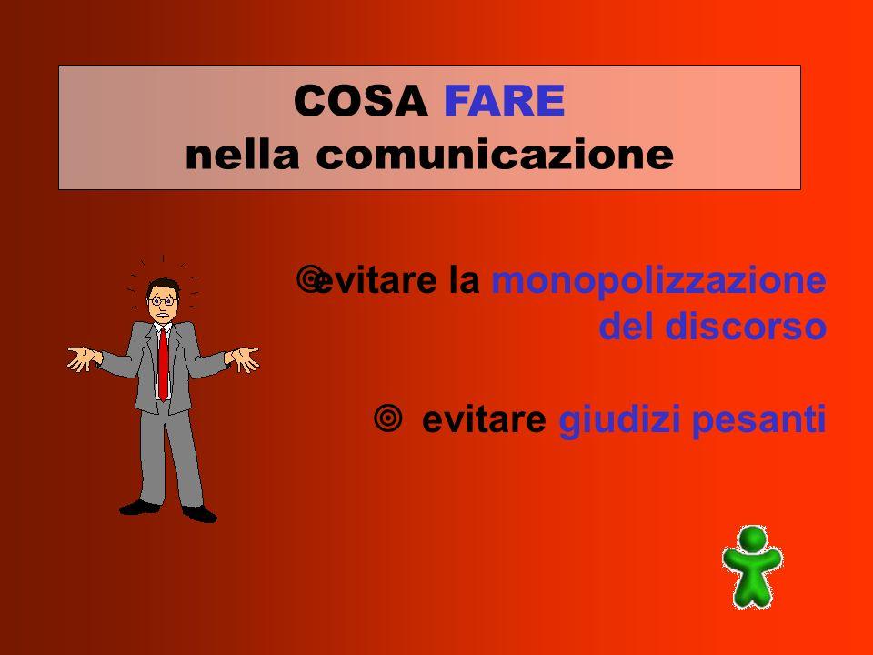 COSA FARE nella comunicazione evitare la monopolizzazione del discorso