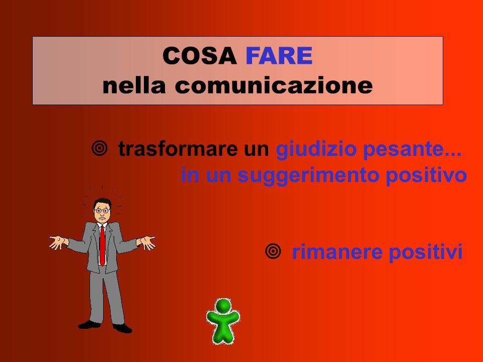 COSA FARE nella comunicazione trasformare un giudizio pesante...