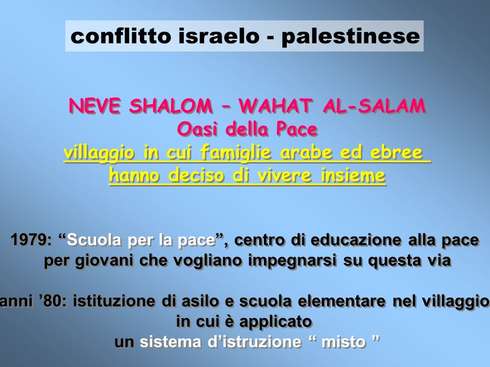 conflitto israelo - palestinese
