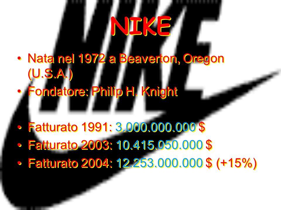 NIKE Nata nel 1972 a Beaverton, Oregon (U.S.A.)