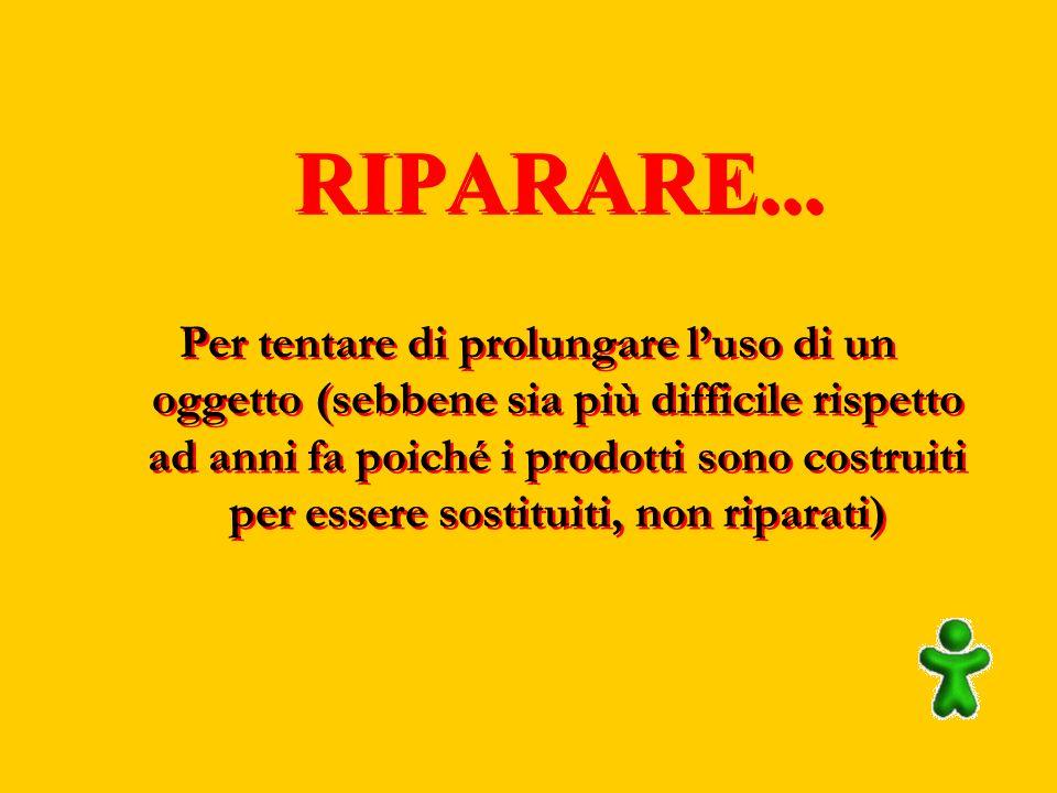 RIPARARE...