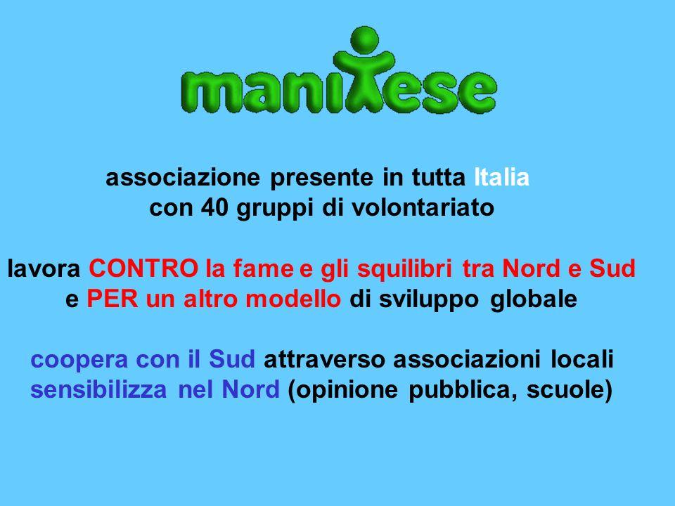 associazione presente in tutta Italia con 40 gruppi di volontariato