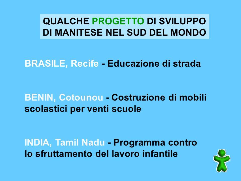 QUALCHE PROGETTO DI SVILUPPO DI MANITESE NEL SUD DEL MONDO