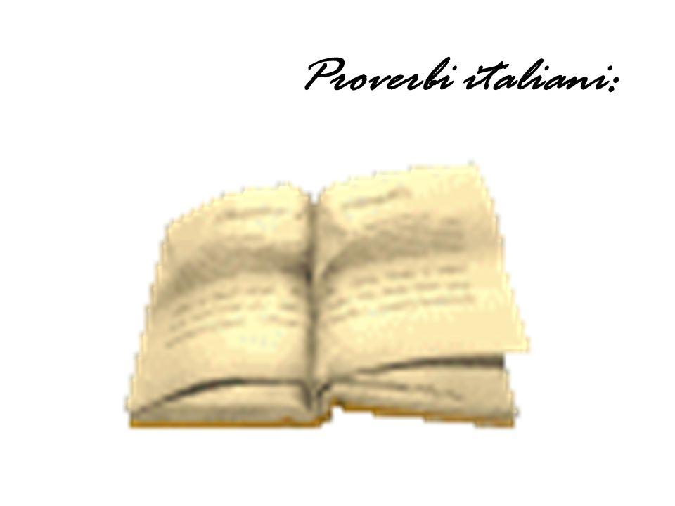 Proverbi italiani: