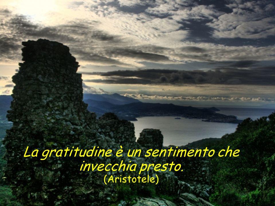 La gratitudine è un sentimento che invecchia presto. (Aristotele)