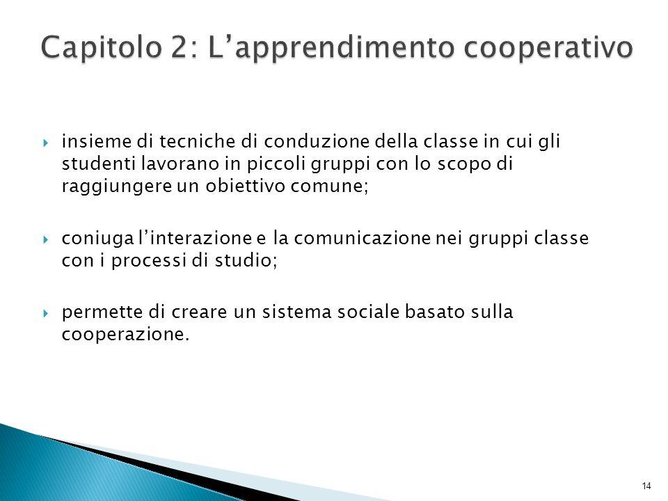 Capitolo 2: L'apprendimento cooperativo