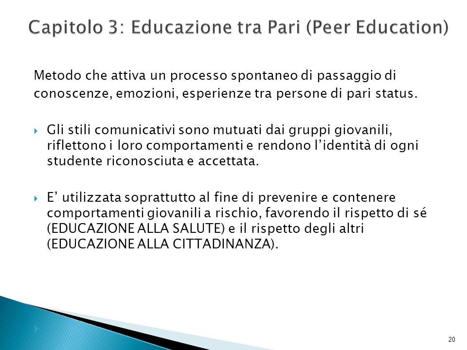 Capitolo 3: Educazione tra Pari (Peer Education)
