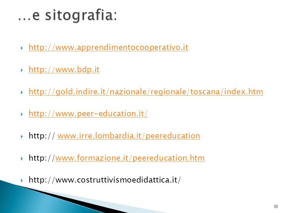 …e sitografia: http://www.apprendimentocooperativo.it