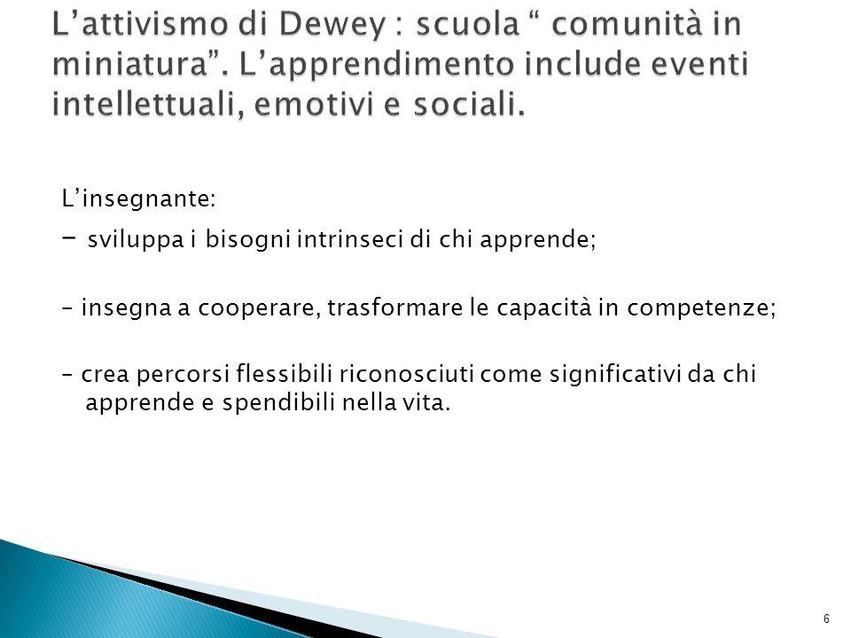 L'attivismo di Dewey : scuola comunità in miniatura