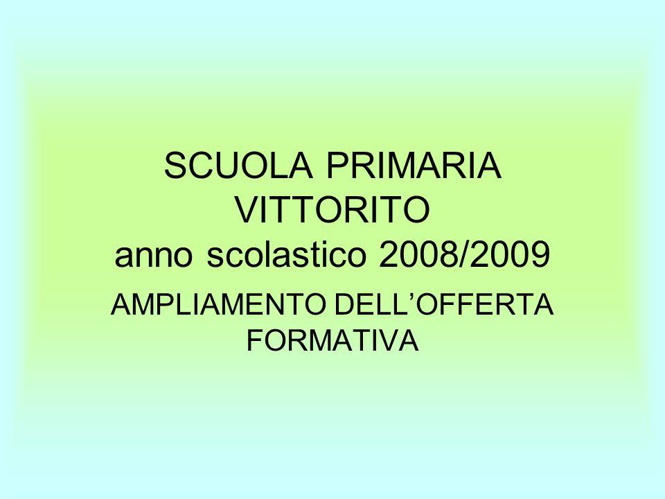 SCUOLA PRIMARIA VITTORITO anno scolastico 2008/2009