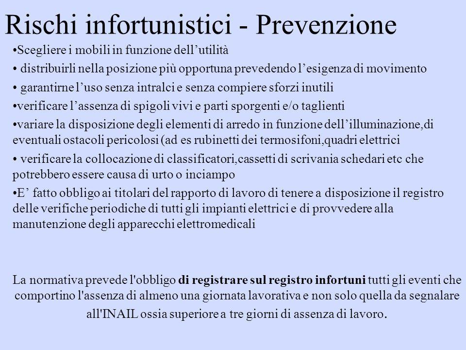 Rischi infortunistici - Prevenzione
