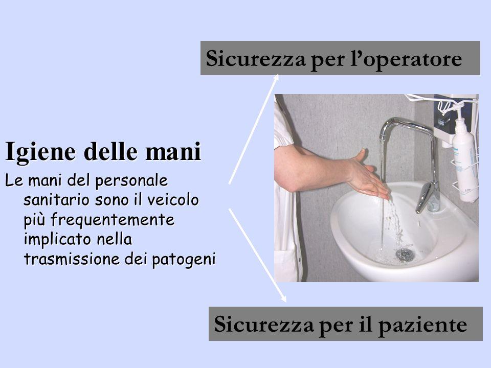 Igiene delle mani Sicurezza per l'operatore