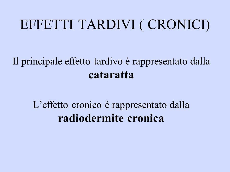 EFFETTI TARDIVI ( CRONICI)