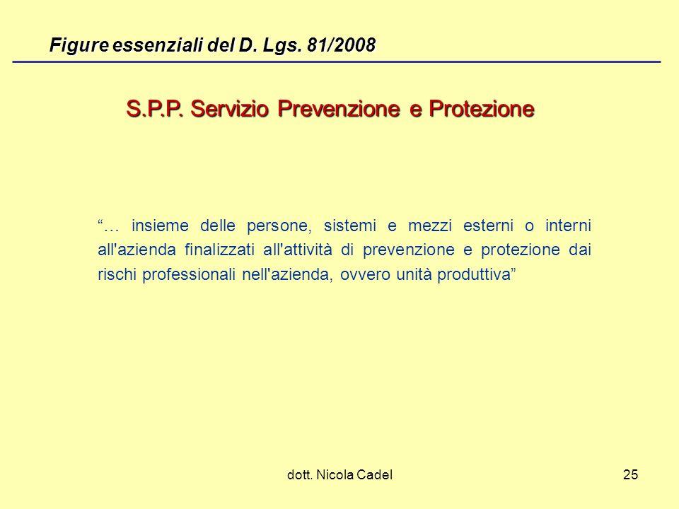 S.P.P. Servizio Prevenzione e Protezione