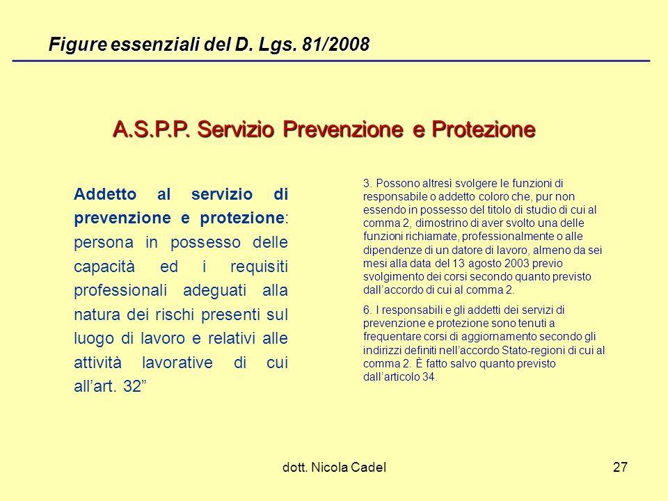 A.S.P.P. Servizio Prevenzione e Protezione