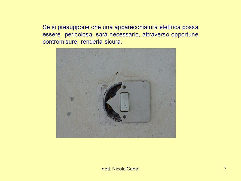 Se si presuppone che una apparecchiatura elettrica possa essere pericolosa, sarà necessario, attraverso opportune contromisure, renderla sicura.