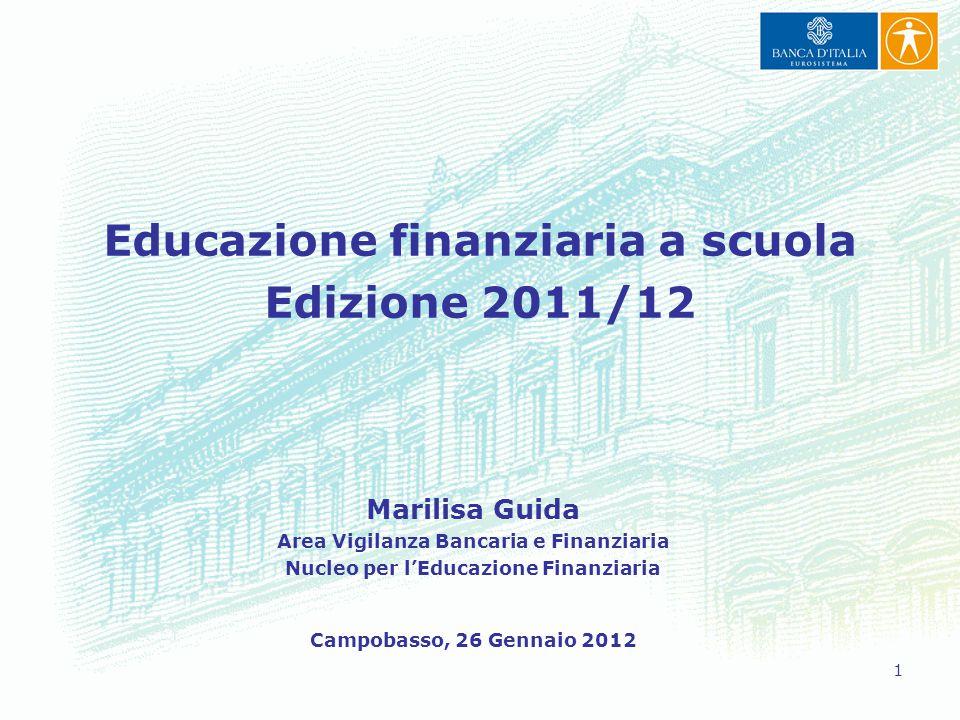 Educazione finanziaria a scuola Edizione 2011/12