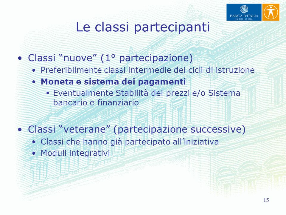 Le classi partecipanti