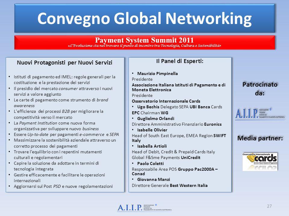 Convegno Global Networking Nuovi Protagonisti per Nuovi Servizi