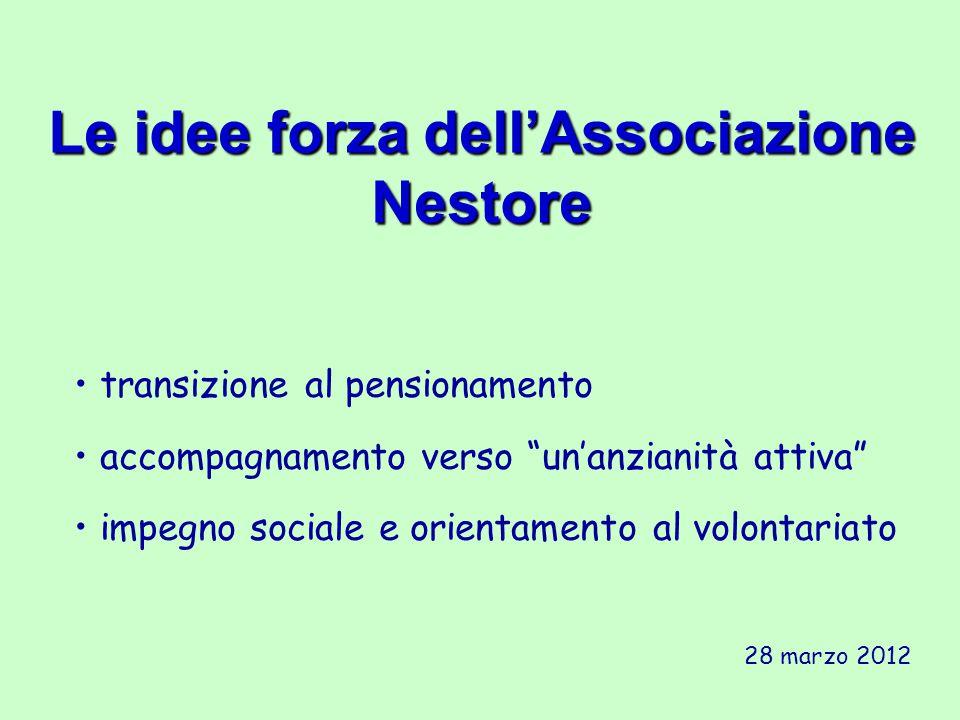 Le idee forza dell'Associazione Nestore