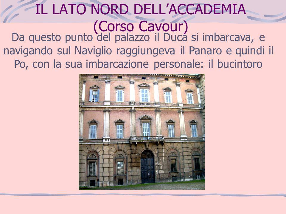 IL LATO NORD DELL'ACCADEMIA (Corso Cavour)