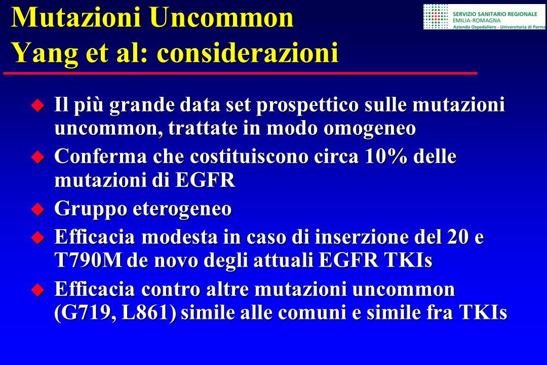Mutazioni Uncommon Yang et al: considerazioni