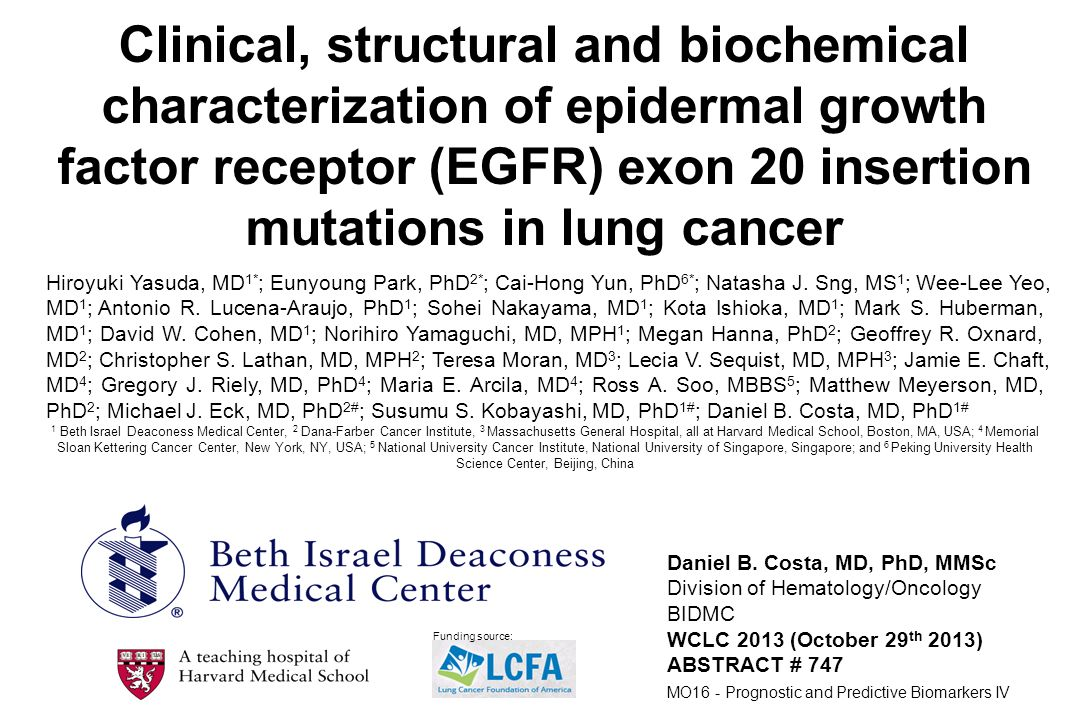 Clinical, structural and biochemical characterization of epidermal growth factor receptor (EGFR) exon 20 insertion mutations in lung cancer