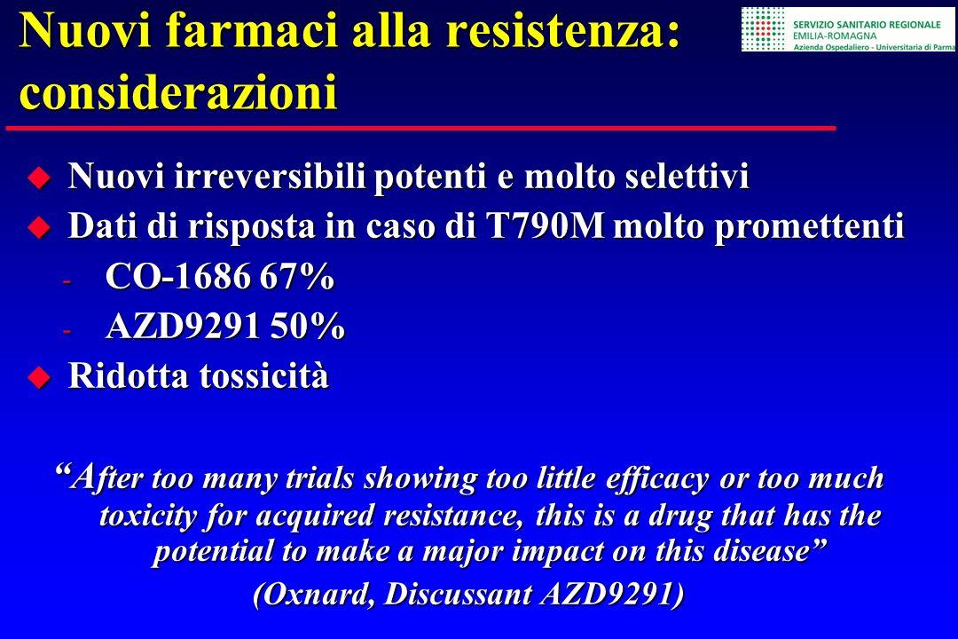 Nuovi farmaci alla resistenza: considerazioni