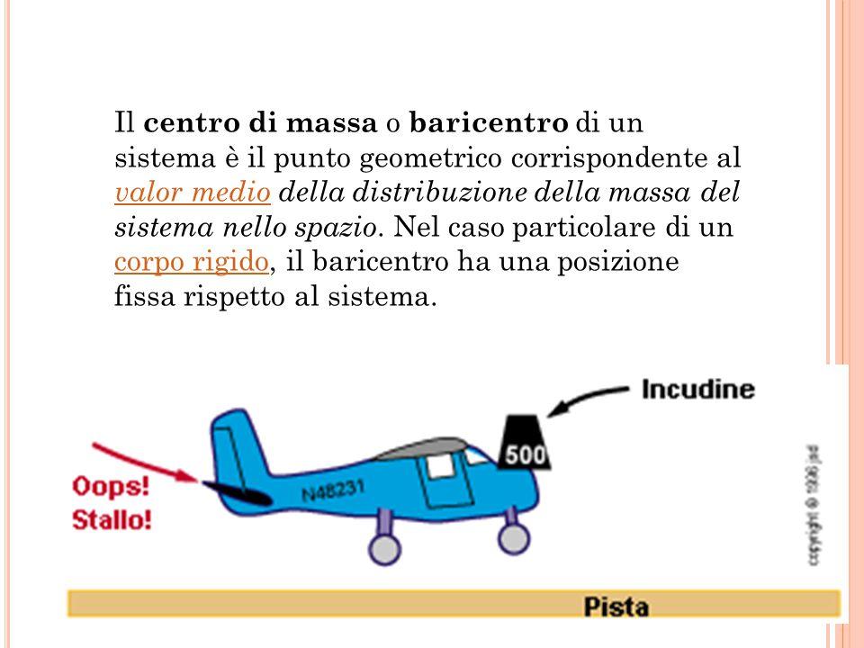 Il centro di massa o baricentro di un sistema è il punto geometrico corrispondente al valor medio della distribuzione della massa del sistema nello spazio.