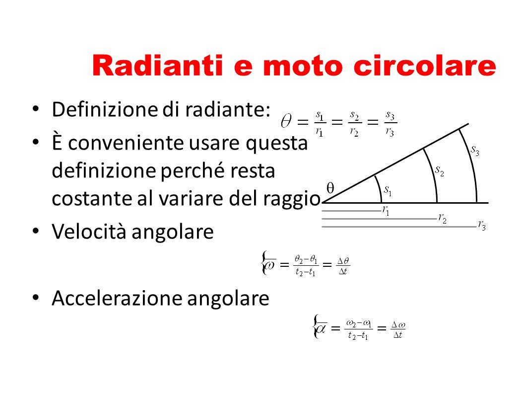 Radianti e moto circolare
