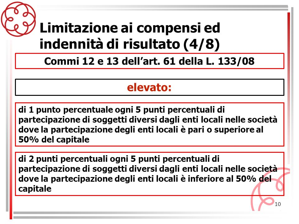 Commi 12 e 13 dell'art. 61 della L. 133/08
