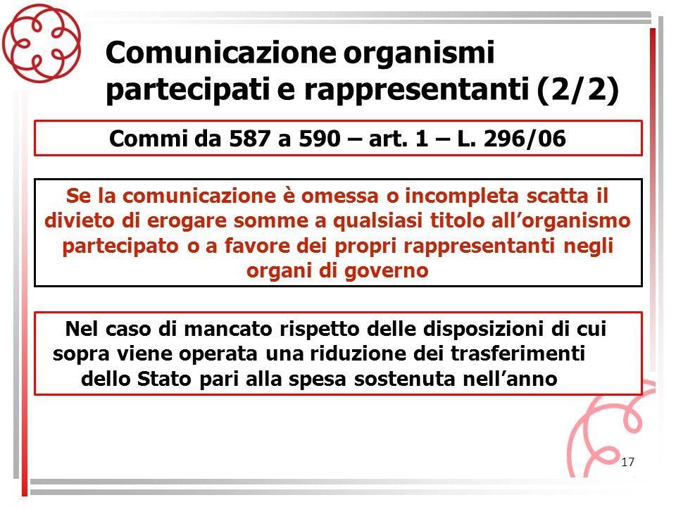 Comunicazione organismi partecipati e rappresentanti (2/2)