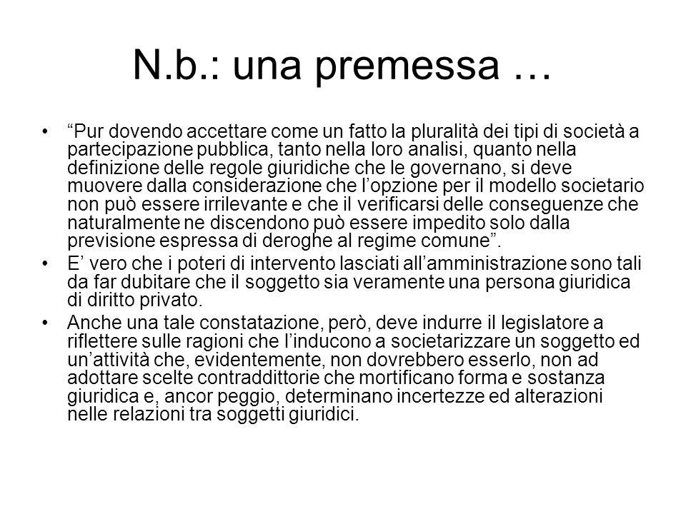 N.b.: una premessa …