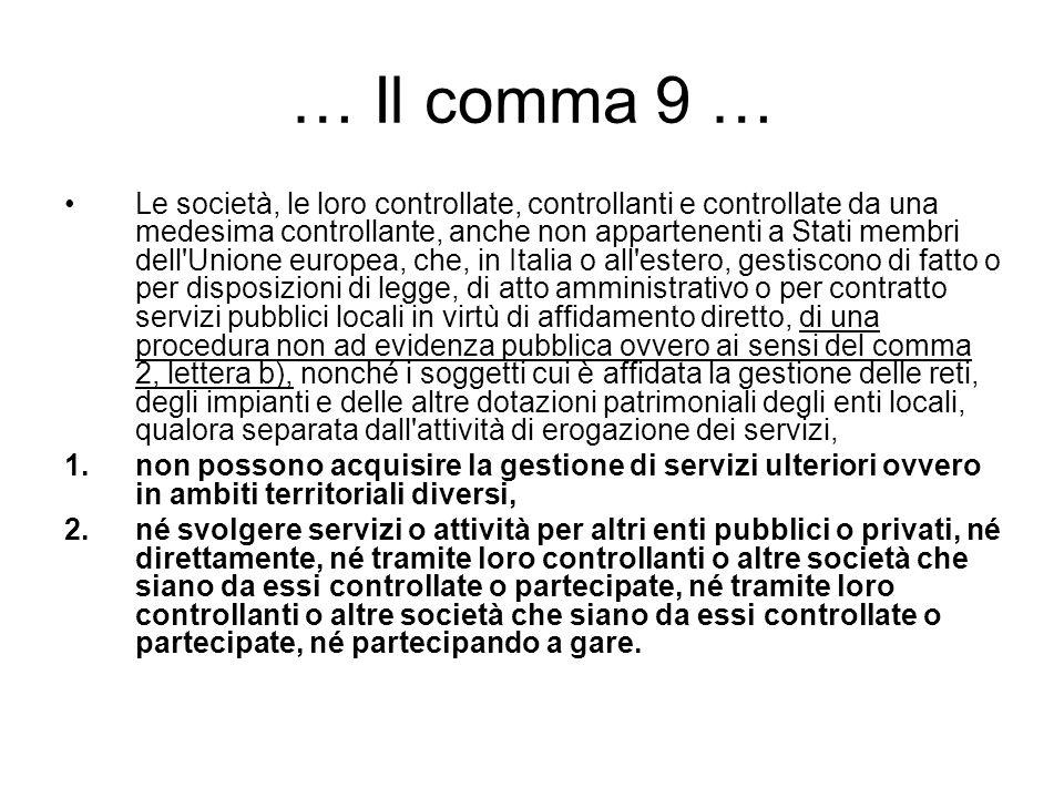 … Il comma 9 …