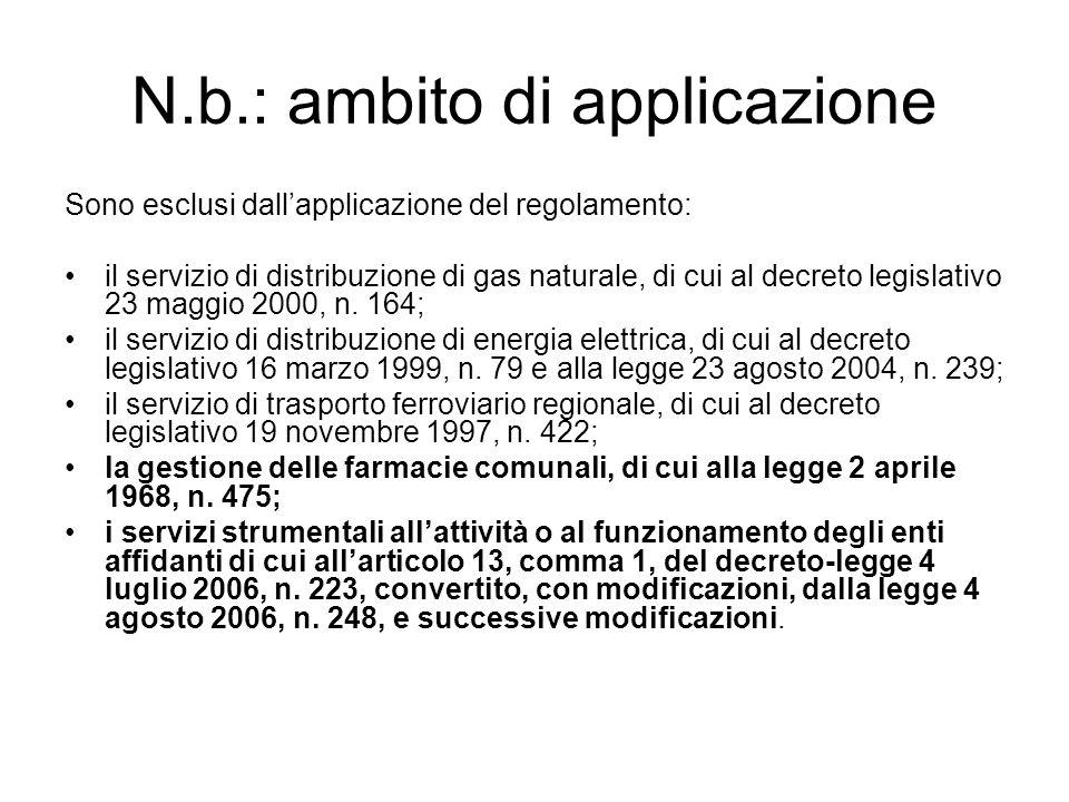 N.b.: ambito di applicazione