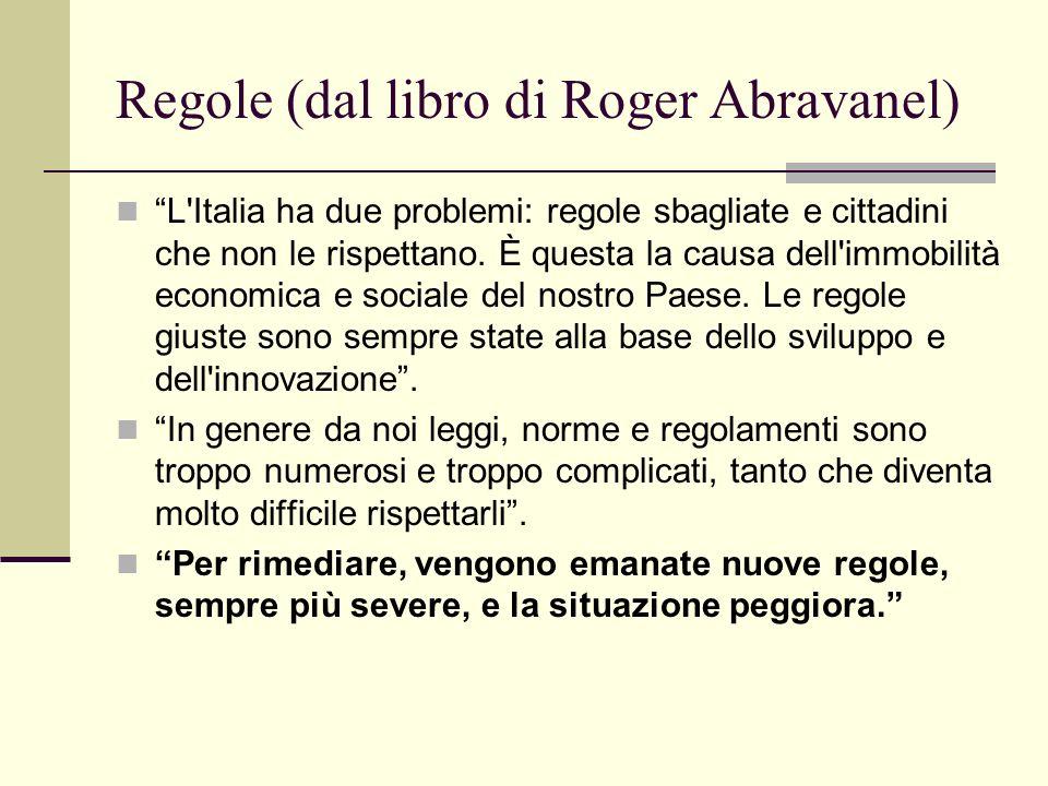 Regole (dal libro di Roger Abravanel)